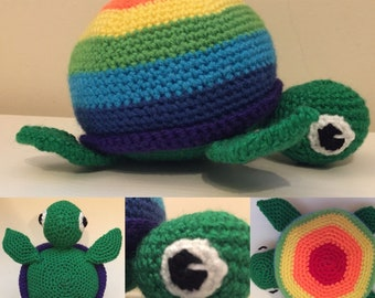Turtle large crochet pattern (Amigurumi)