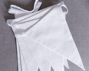 White Bunting - Large - Made to Order