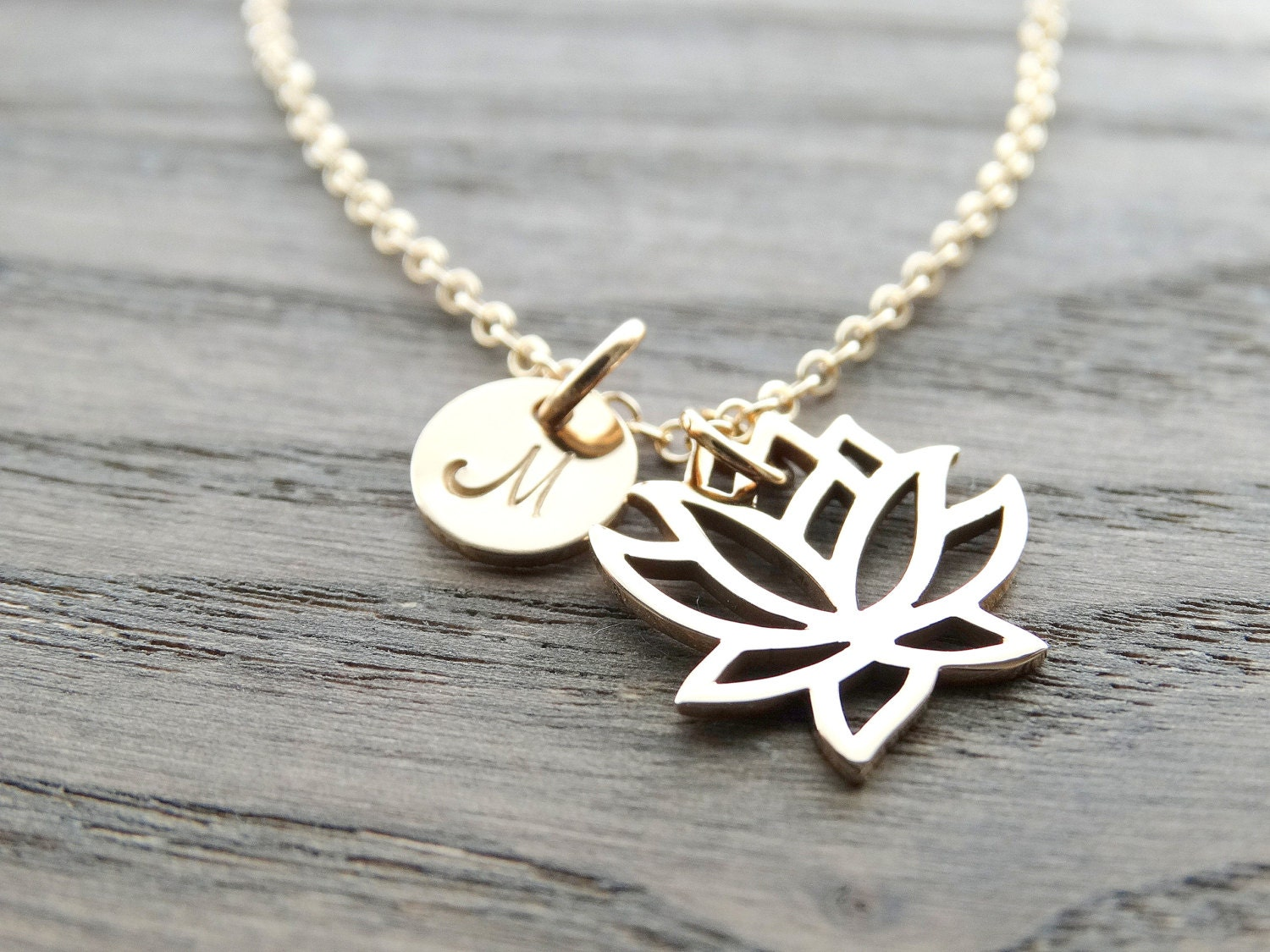 Lotus necklace gold lotus flower necklace lotus charm yoga jewelry lotus necklace gold lotus flower necklace lotus charm yoga jewelry gold filled necklace lotus jewelry initial necklace personalized jewelry izmirmasajfo Images
