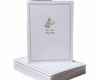 You Rock My Socks Thank You Greeting Card