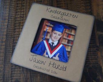 Kindergarten Graduation, Preschool Graduation, Graduation Picture Frame, Gift for Graduate, Personalized Graduation Gift