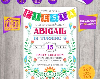Fiesta invitation, Fiesta birthday invitation, Fiesta party, Fiesta invite, Mexican fiesta invitation, Hispanic Invitation, fiesta printable
