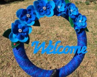 Electric Blue Wreath