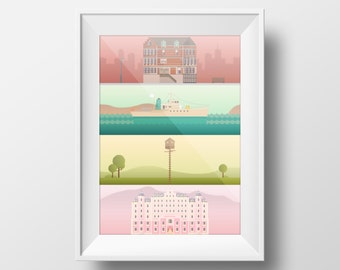 A Wes Anderson Collection Poster Print