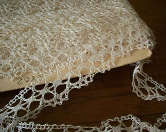 silk hand done lace antique