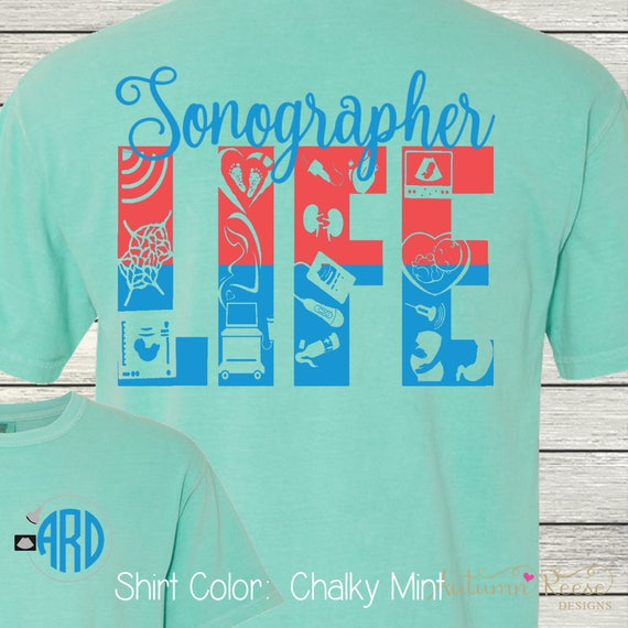 Monogrammed Sonographer Customized Shirt Personalized Comfort Colors Shirts vdYy6PCBix