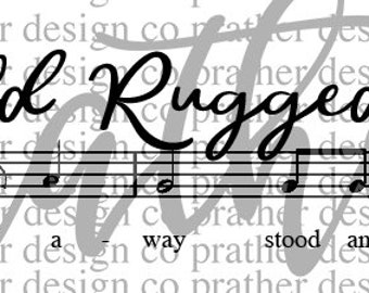 The Old Rugged Cross, SVG, Cut File, Hymn, Silhouette, Cricut, Instant Download