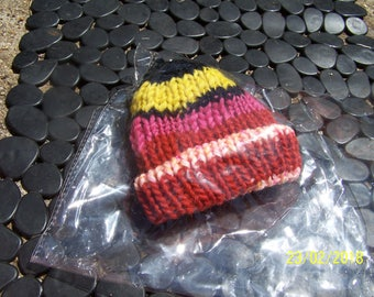new born baby beanie, handmade by me-lined extra warm!
