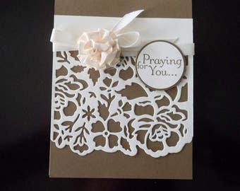 Custom Sympathy card, Handmade Sympathy card, Praying for You card, Card of Encouragement, Sympathy card, Get Well card