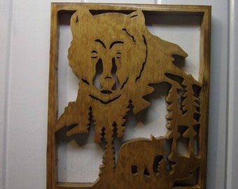 Bears in the Woods wall Plaque