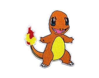 Charmander Patch Pokemon Patch Cartoon Game Patch Iron on Patch Sew On Patches
