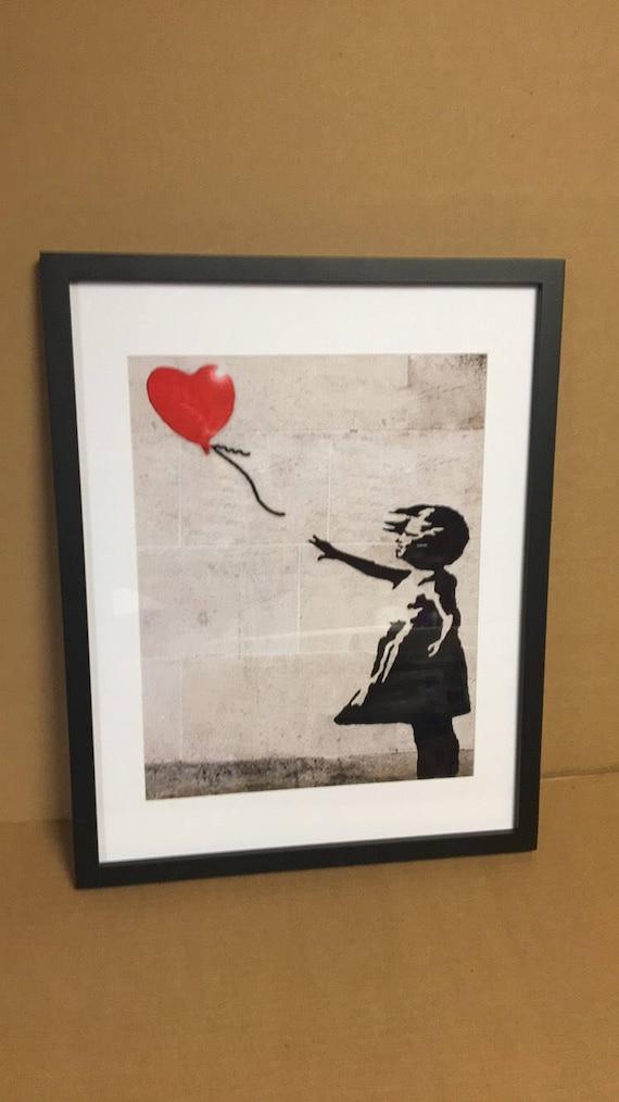 Ballon Mädchen Banksy Kunstdrucke Girl-Power