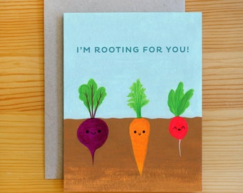 Rooting For You Any Occasion Encouragement Greeting Card