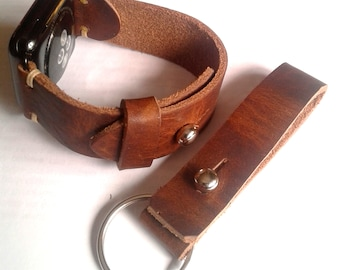 Horween Leather Apple Watch Strap, Apple Band.