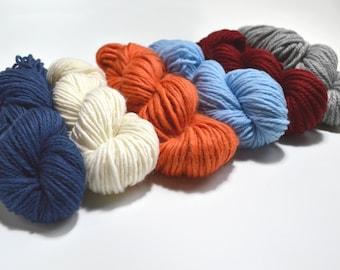 Blue Orange and Red Yarn Pack, Weavers yarn pack, Knitters Yarn Pack, Yarn Combo, Yarn Set