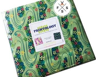 "Modern Quilt Studio Printology Precut 10"" Fabric Squares Quilting Cotton Layer Cake"