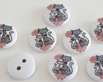 Cat buttons, buttons Aristocats, decorative buttons, buttons suit 20 pattern cats, cats, fancy buttons sewing buttons buttons buttons