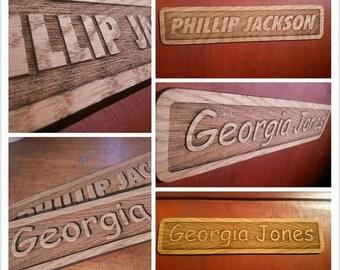 Personalised engraved wooden Door/name plaque - 00072