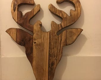 Wooden Stag made from reclaimed wood