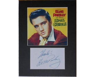 Elvis Presley printed signed autograph 8x6 inch mounted photo print display #3