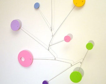 Modern Hanging Art Mobile for Baby Nursery Jazzmo Foam Circle Abstract Retro Decor Kinetic Home Decor