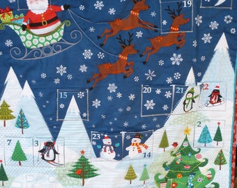 SANTA CLAUS ADVENT Calendar, Santa Claus is Coming to Town, Child's Gift, December Calendar, Holiday Gift, Countdown to Christmas