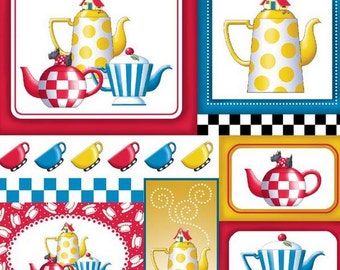 Quilting Treasures - Mary Engelbreit - Tea Time - Teapot Patch