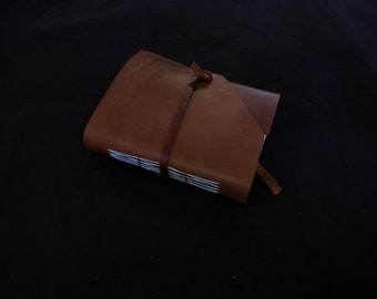 Brown oil tanned leather journal
