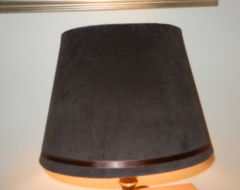 Oval Lamp Shade - Dark Brown Velour