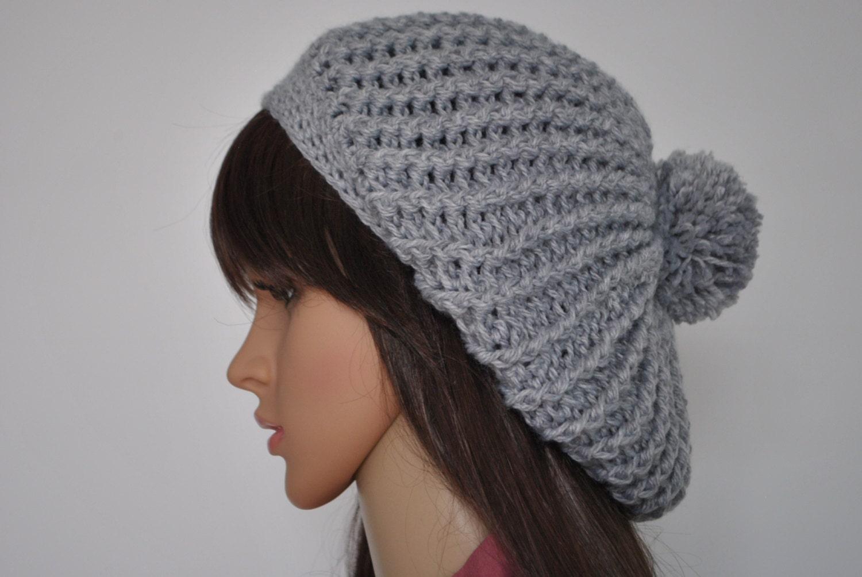 Grau übergroße Mütze Beanie Frauen Hüte Damen Mütze Mützen