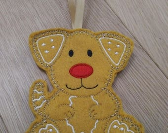 Gingerbread Doggy Decoration