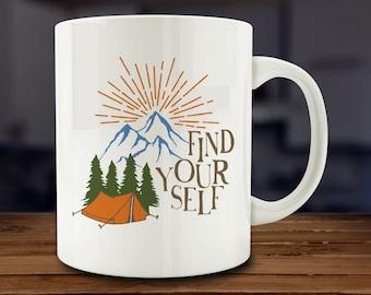 Find Yourself Mug, Motivational Mug (AB26)