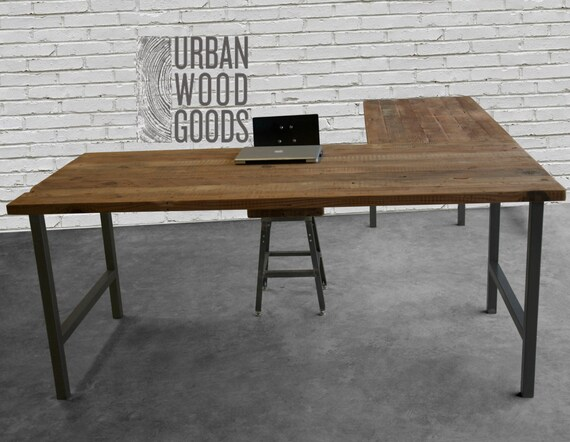 Reclaimed Wood Office Furniture Modern Wood Desk Custom L
