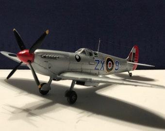 Legendary Spitfire Mk. IX - Built Plastic Scale Model- 1/72 scale