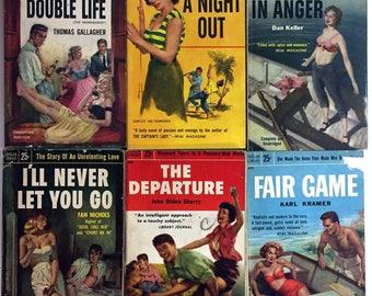 Six Bad Girls PULP FICTION Books