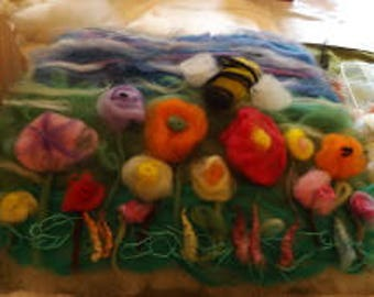 Workshop for Wet felting, picture, prefelt or scarf