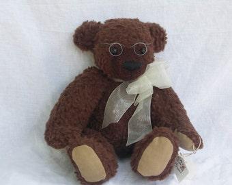 antiqued artist teddy bear