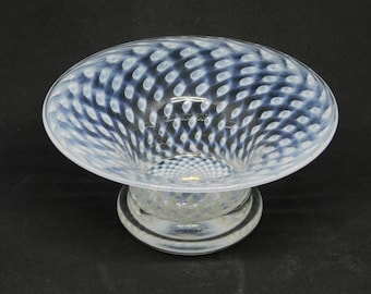 Bertil Vallien Glass Bowl for Boda Sweden circa 1960 controlled bubble bowl 7.5 inches