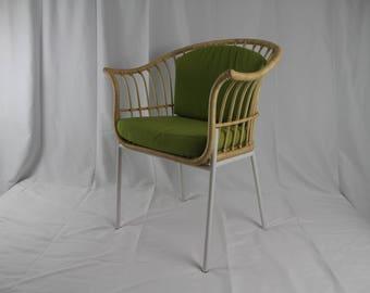 Rattan and Metal Chair
