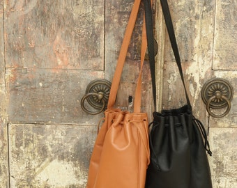 Hand Made Soft Leather Bucket Bags
