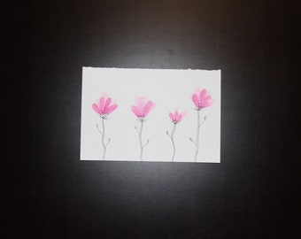 Flowers watercolor print