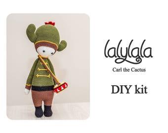 DIY Crochet Kit - Lalylala Carl the Cactus - Lalylala pattern - DIY Craft - Christmas gift - Gift for mom