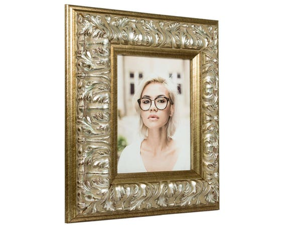 Craig Frames, 24x30 Inch Antique Silver Baroque Picture Frame ...
