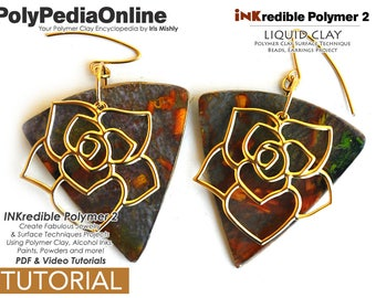 Polymer Clay, Polymer Clay Tutorial, Polymer Clay Jewelry, Crafting Polymer Clay, Polymer Clay Pattern, Jewelry Tutorial, Alcohol Ink, DIY