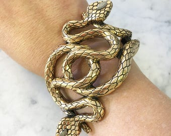 Snake Bangle Snake Jewelry Vintage Snake Bangle Silver