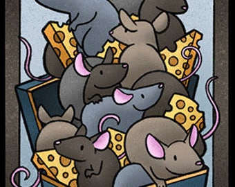 10 Pack Rat Tokens for Magic the Gathering