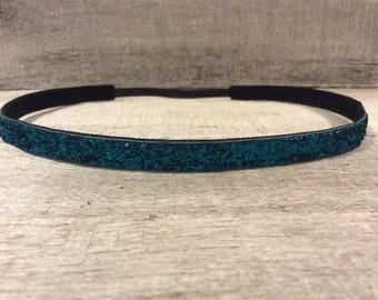 Sapphire Blue Sparkle Nonslip Headband,  Noslip Headband, Workout Headband, Sports Headband, Running Headband, Athletic Headband