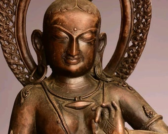 A piece of art! Very rare 19th - 20th century Goddess Tara in tribhanga nepalese copper sculpture. 54cm and 6kg