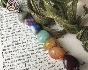Chakra Necklace; Hammered Copper Chakra Pendant; Eco Friendly Jewelry;  Zen Jewelry; Sustainable Jewelry; Yoga Jewelry; Boho Pendant