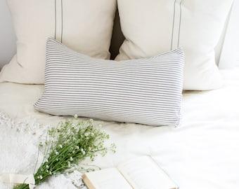 GRAIN SACK two Stripe Pillow Cover | farmhouse pillows, grain sack, grain sack pillow, farmhouse style gift, french country pillow